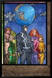 Secret Invasion: Inhumans No.4 Group: Black Bolt, Medusa, Karnak, Gorgon, Crystal and Triton Posters by Tom Raney