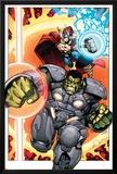Indestructible Hulk 8 Cover: Thor, Hulk Posters by Walt Simonson