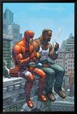 Marvel Team-Up No.9 Cover: Daredevil, Cage and Luke Art by Scott Kolins