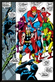 Giant-Size Avengers No.1 Group: Thor, Captain America, Hawkeye, Black Panther and Vision Kunst av John Buscema