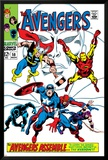 Giant-Size Avengers No.1 Cover: Thor, Iron Man, Captain America and Black Panther Plakater av John Buscema
