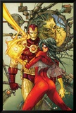 Astonishing Tales No.3 Cover: Spider Woman and Iron Man Print by Kenneth Rocafort