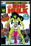 Hulk Family: Green Genes No.1 Cover: She-Hulk, Walters and Jennifer Plakater av John Buscema