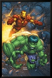 Marvel Team-Up No.4 Cover: Hulk and Iron Man Print by Scott Kolins