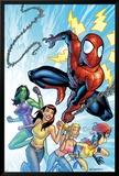 The Amazing Spider-Man No.567 Cover: Spider-Man, Daredevil and Kraven The Hunter Plakat av Phil Jimenez