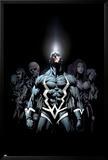 Inhumans 2099 No.1 Cover: Black Bolt and Inhumans Flying Posters av Pat Lee
