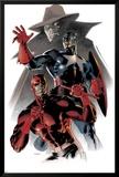 Daredevil & Captain America: Dead On Arrival Cover: Captain America and Daredevil Kunstdrucke von Claudio Villa