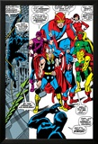Giant-Size Avengers No.1 Group: Thor, Captain America, Hawkeye, Black Panther and Vision Plakater av John Buscema