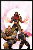 X-Men: The Times and Life of Lucas Bishop No.3 Cover: Cable, Cyclops and Bishop Plakater af Ariel Olivetti