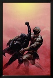 Black Panther No.2 Cover: Black Panther Charging Poster