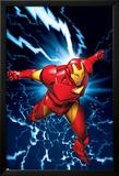 Marvel Two-In-One No.9 Marvel Adventures Iron Man Cover: Iron Man Láminas por Michael Golden