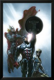 Secret Invasion No.8 Cover: Captain America, Wolverine and Thor Affiches par Gabriele DellOtto
