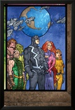 Secret Invasion: Inhumans No.4 Group: Black Bolt, Medusa, Karnak, Gorgon, Crystal and Triton Plakat av Tom Raney