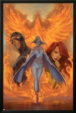 What if Astonishing X-Men No.1 Cover: Emma Frost, Phoenix and Cyclops Posters by J. Scott Campbell