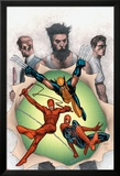 Powerless No.6 Cover: Wolverine, Daredevil, Matt Murdock, Spider-Man, Peter Parker, Logan Print by Steve MCNiven