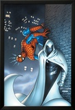 Marvel Team Up No.7 Cover: Moon Knight and Spider-Man Print by Scott Kolins