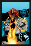 X-Men: Phoenix - Endsong No.2 Cover: Phoenix, Beast, Emma Frost, Cyclops and Wolverine Affiches par Greg Land