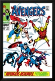 Giant-Size Avengers No.1 Cover: Thor, Iron Man, Captain America and Black Panther Poster av John Buscema