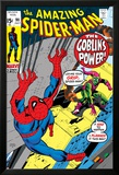 The Amazing Spider-Man No.98 Cover: Green Goblin and Spider-Man Fighting Prints by Gil Kane