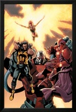 Ultimate X-Men No.93 Cover: Wolverine, Phoenix, Apocalypse and Onslaught Affiche par Salvador Larroca