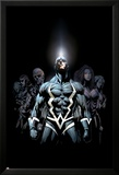 Inhumans 2099 No.1 Cover: Black Bolt and Inhumans Flying Posters av Pat Lee