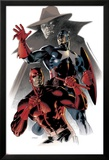 Daredevil & Captain America: Dead On Arrival Cover: Captain America and Daredevil Poster von Claudio Villa
