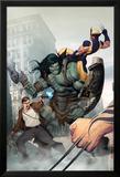 Incredible Hulk No.603 Cover: Skaar, Wolverine, Banner and Bruce Plakater af Ariel Olivetti