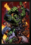World War Hulk No.2 Cover: Hulk Láminas por David Finch