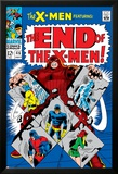 X-Men No.46 Cover: Juggernaut, Cyclops, Beast, Angel, Grey, Jean and X-Men Print by Werner Roth