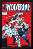 Wolverine No.2 Cover: Wolverine and Silver Samurai Plakater av John Buscema