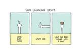 Sign Language Basics Poster di Reza Farazmand