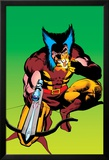 Wolverine No.4 Cover: Wolverine Crouching Prints by Frank Miller