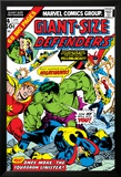 Giant-Size Defenders No.4 Cover: Hulk, Dr. Strange, Hyperion, Dr. Spectrum and Nighthawk Fighting Photo by Don Heck