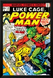 Marvel Comics Retro: Luke Cage, Power Man Comic Book Cover No.29, Fighting Mr. Fish Stampe