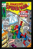 Amazing Spider-Man No.92 Cover: Spider-Man, Stacy, Gwen and Iceman Prints by Gil Kane