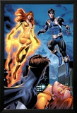 I Am An Avenger No.2: Firestar and Justice Flying Prints by Mike Mayhew