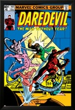 Daredevil No.165 Cover: Daredevil and Doctor Octopus Crouching Foto van Frank Miller