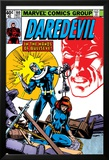 Daredevil No.160 Cover: Bullseye, Black Widow and Daredevil Charging Poster van Frank Miller