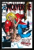Wolverine No.10 Cover: Wolverine and Sabretooth Plakater av John Buscema