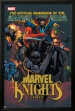 The Official Handbook Of The Marvel Universe: Marvel Knights 2005 Cover: Black Panther Poster av Pat Lee