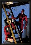 Daredevil No.8 Cover: Daredevil and Spider-Man on the Fire Escape Posters by Paolo Rivera