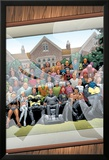 New X-Men No.126 Cover: Professor X, Cyclops, Grey, Jean, Wolverine and Beast Poster by Frank Quitely
