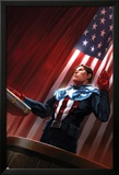 Captain America No.613 Cover: Captain America Standing in Front of the American Flag Posters par Marko Djurdjevic