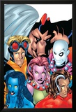 Exiles No.1 Cover: Blink, Morph, Thunderbird, Mimic, Magnus and Nocturne Lamina Framed Art PrintMike McKone