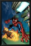 Timestorm 2009/2099 No.4 Cover: Spider-Man and Ghost Rider Bilder av Tom Raney