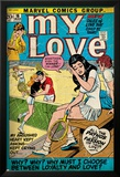 Marvel Comics Retro: My Love Comic Book Cover No.16, Tennis, Pathos and Passion (aged) Plakat