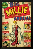 Marvel Comics Retro: Millie the Model Comic Book Cover No.1, the Big Annual (aged) Plakater