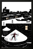 Daredveil No.7 Cover; Daredevil Making a Snow Angel on a Rooftop Prints by Paolo Rivera
