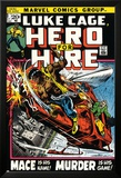 Marvel Comics Retro: Luke Cage, Hero for Hire Comic Book Cover No.3, Mace in Helicopter Poster