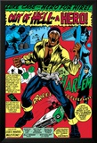 Marvel Comics Retro: Luke Cage, Hero for Hire Comic Panel, Screaming Poster